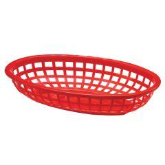 Red Plastic Side Order Basket, 24x15cm.