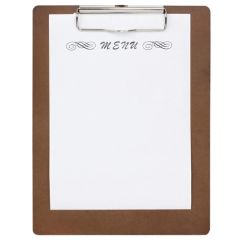 Wooden Menu A4 Presentation Clipboard