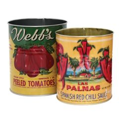 Vintage Tin Cutlery Can Holders