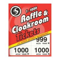 Silvine Cloakroom Ticket 1-1000