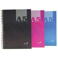 A5 Casebound Twin Wire Notebook