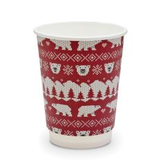 Vegware Christmas Jumper Paper Hot Cups 8oz