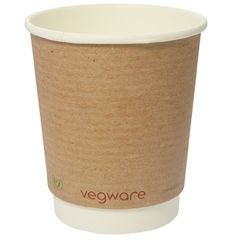 Vegware Compostable Double Wall Kraft Cup 8oz (500)
