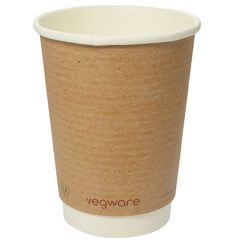 Vegware Compostable Double Wall Kraft Cup 12oz