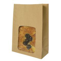 """Kraft NatureFlex Window Bloomer Bag 6""""x3""""x9"""" (250)"""
