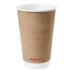 Vegware Kraft Double Wall Hot Cup 16oz (400)
