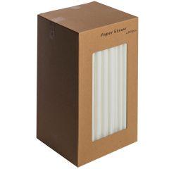 """White Paper Straws 8"""""""