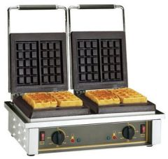 ROLLER GRILL DOUBLE BRUSSELS WAFFLE MACHINE 3KW  GED10 7