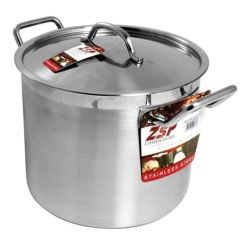 "ZSP Stainless Steel Stockpot 11"" 16ltr"