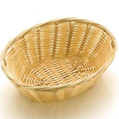 "Oval Poly-Rattan Basket 7"""