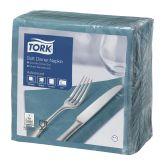 Tork Soft Teal Dinner Napkin 40cm 3ply (1200)