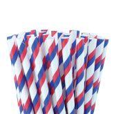 Red/Blue/White Paper Straws 8