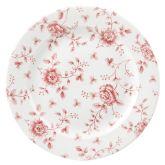 "Cranberry Rose Chintz Plate 10.9"" (6)"