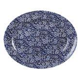 "Vintage Williow Victorian Calico Oval Dish 14.4"" (6)"