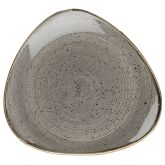 "Churchill Stonecast Peppercorn Grey Triangle Plates 10.5"" (12x1)"