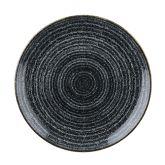 Churchill Studio Prints Homespun Charcoal Black Coupe Plate 6.5