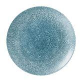 "Churchill Studio Prints Raku Topaz Blue Coupe Plate 11.25"" (12)"