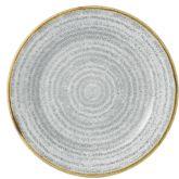 "Churchill Studio Prints Homespun Stone Grey Rimmed Plate 6.6"" (12)"