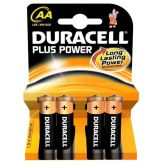 Duracell Plus AA Batteries (Pack of 4)