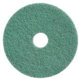 """17"""" Green Twister Floor Pads. (2)"""