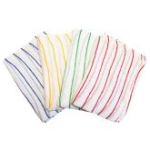 Jangro Contract Blue Striped Dishcloth 12