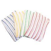 Jangro Contract Yellow Striped Dishcloth 12
