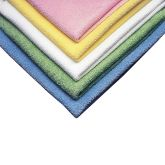 Jangro Microtex White Microfibre Cleaning Cloth 40x40cm (Pack of 5)