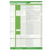 Jangro Catering Cleaning A3 Schedule Chart