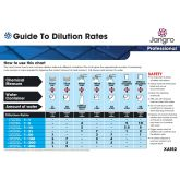 Jangro Dilution Guide A4 Wall Chart