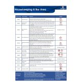 Jangro Housekeeping & Bar A3 Wall Chart