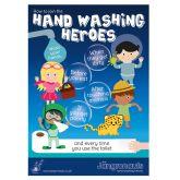 Jangronaut Global Hand Washing Heroes A3 Poster
