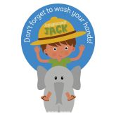 Jangronauts Dispenser Jack Now Wash Your Hands Stickers (10 stickers)