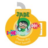 Jangronauts Dispenser Jade Please Dry Your Hands Stickers (10 stickers)