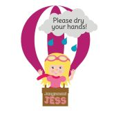 Jangronauts Dispenser Jess Please Dry Your Hands Stickers (10 stickers)