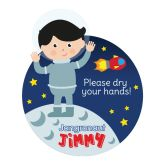 Jangronauts Dispenser Jimmy Please Dry Your Hands Stickers (10 stickers)