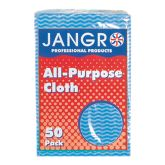 Jangro Large Blue All Purpose Cloth (Pack of 50)