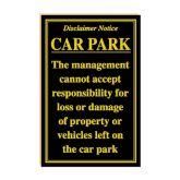 Car Park Disclaimer Notice