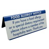 Food Allergy Warning Buffet Notice
