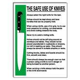 Safe Use of Knives Notice.