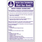 Prevent Cross Contamination - Wash Hands Notice.