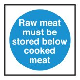 Storage of Raw Meat Sign.
