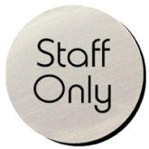 Metallic Door Disc - Staff Only.