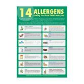 Food Allergen Guide For Staff Sticker A3