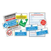 Catering Hygiene Signs Pack. (10)