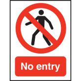 No Un-authorised Entry Sign.