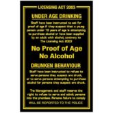 Licensing Act 2003 Sign