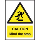 Caution Mind The Step Sign.