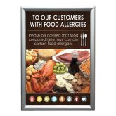 Wall Mounted Allergy Notice A4