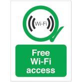 Free Wi-Fi Access Sign