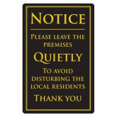 Please Leave Quietly Bar Sign